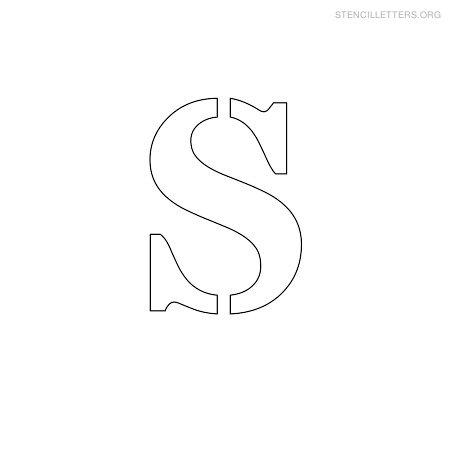 stencil letter small s