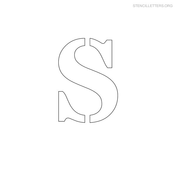 Stencil Letter Uppercase S