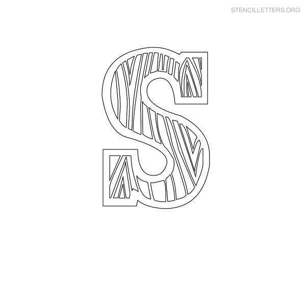 Stencil Letter Wooden S