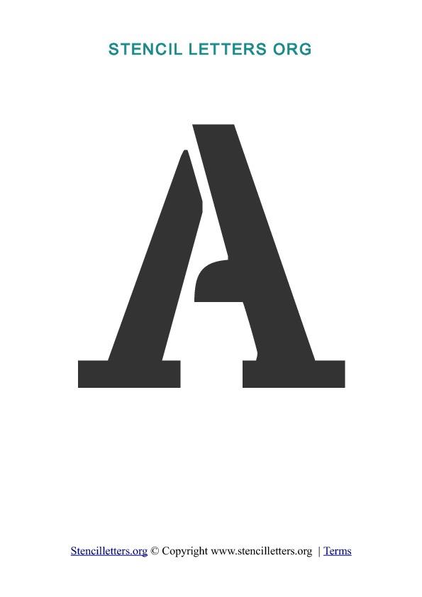 A Z Letters In PDF Stencil Templates