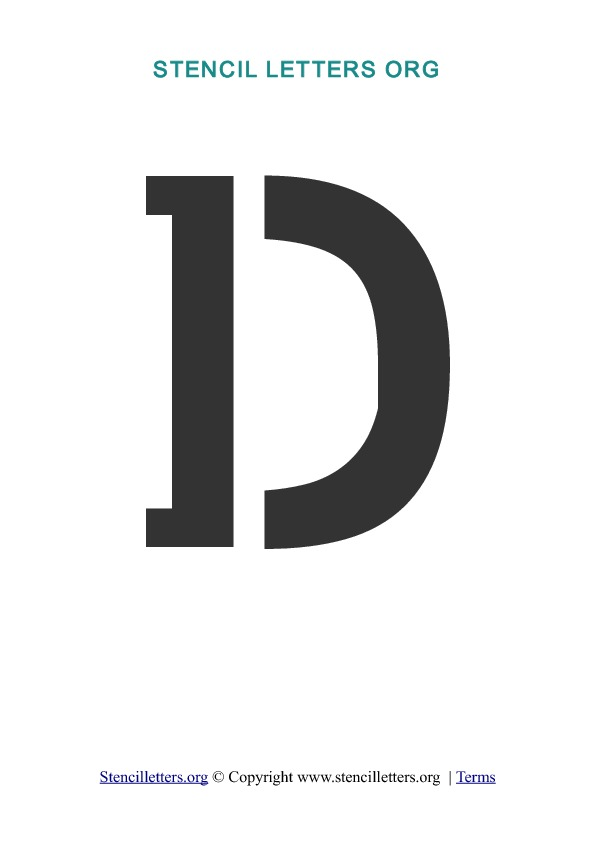 Letter D Templates.A Z Letters In Pdf Stencil Templates Style 1 Stencil
