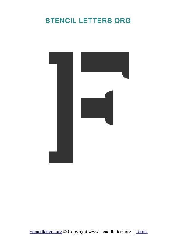File Name : stencil-templates-f.jpg Resolution : 595 x 842 pixel Image ...