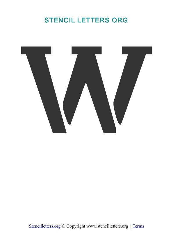 A-Z Letters in PDF Stencil Templates - Style 1 | Stencil ...