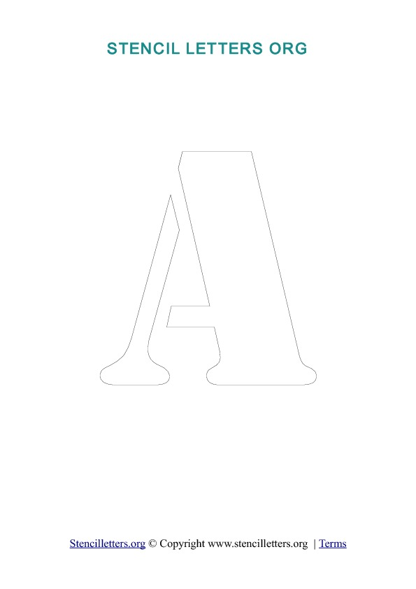 A z letters in pdf stencil templates style 2 outline stencil a to z printable stencil letter templates in pdf format style 2 outline spiritdancerdesigns Image collections