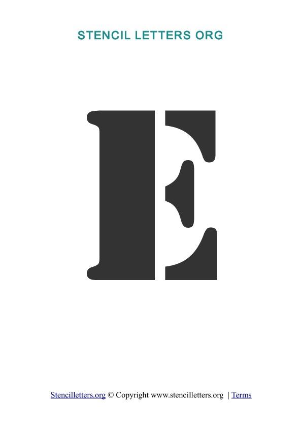 a-z letters in pdf stencil templates