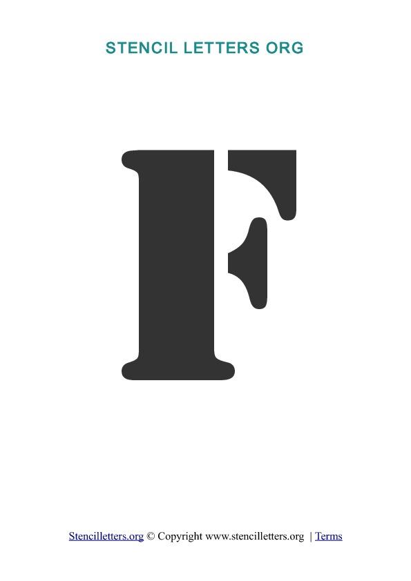 A-Z Letters in PDF Stencil Templates - Style 2 | Stencil ...