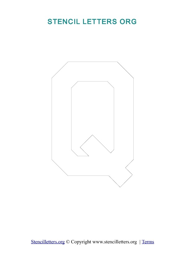 PDF Stencil Template Outline Q
