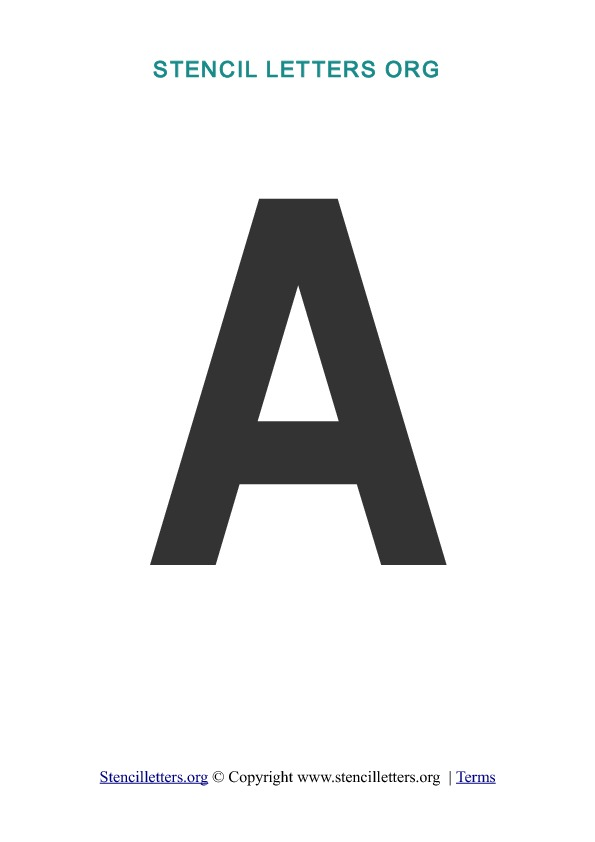 photo regarding Printable Letter Stencils Pdf identified as Stencil Letters. Absolutely free Printable Stencil Letters, Fonts