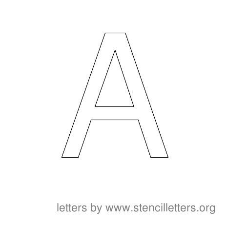 Stencil Letters to Print Alphabet A
