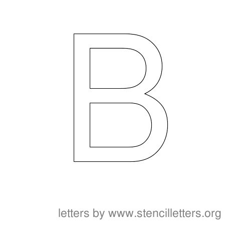 Stencil Letters to Print Alphabet B
