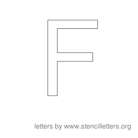 Stencil Letters to Print Alphabet F