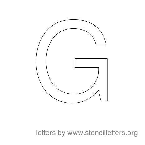 Stencil Letters to Print Alphabet G