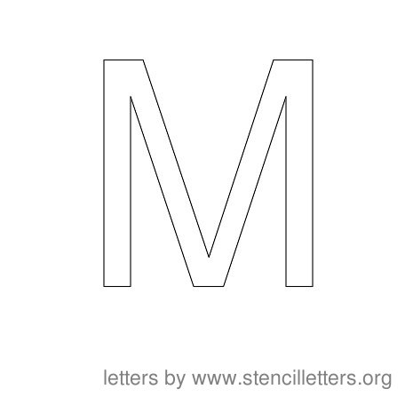m alphabet letter  Stencil Letters to Print Alphabet