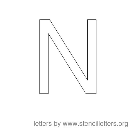 Stencil Letters to Print Alphabet N