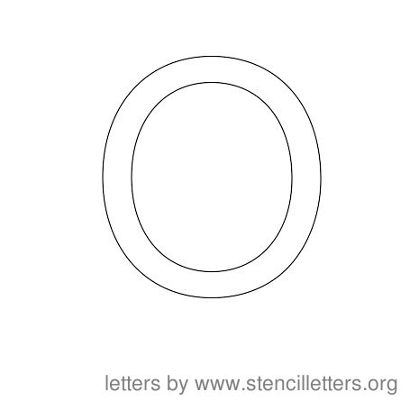 Stencil Letters to Print Alphabet O