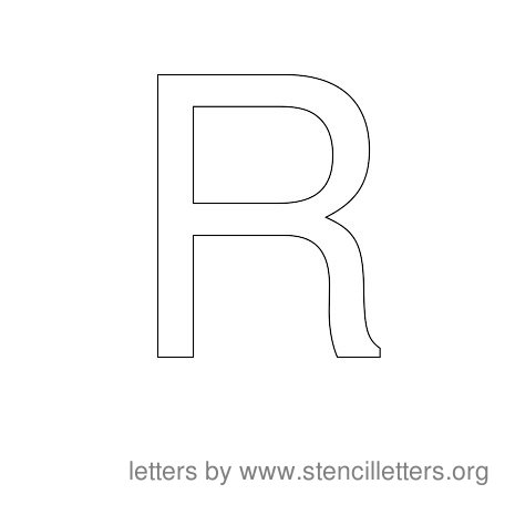 Stencil Letters to Print Alphabet R