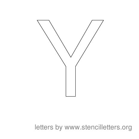 Stencil Letters to Print Alphabet Y