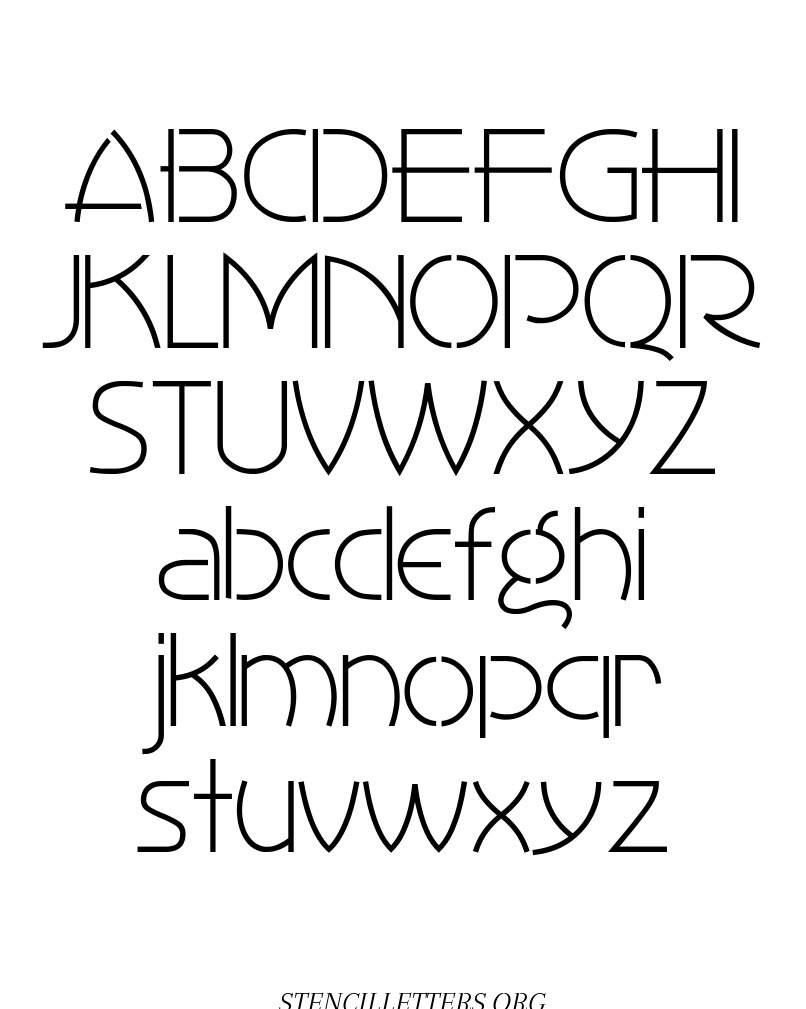 1930's Art Style free printable letter stencils