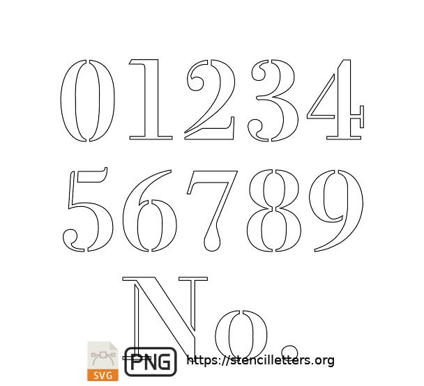 1700's Didone Script number stencils