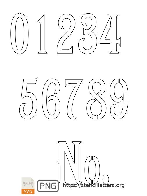 1800's Art Nouveau number stencils