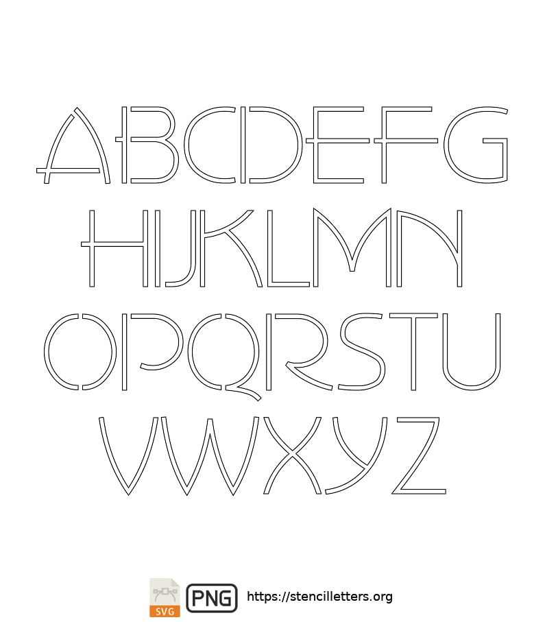 30's Artistic Gothic uppercase letter stencils