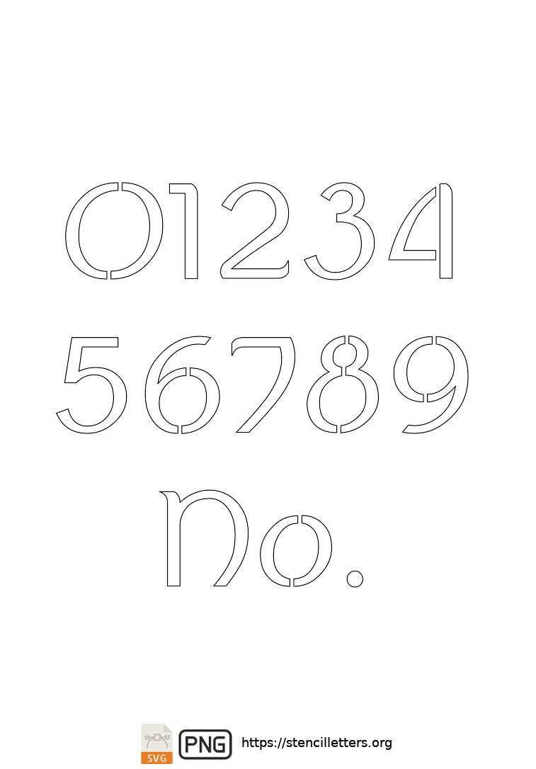 Ancient Italic Celtic number stencils