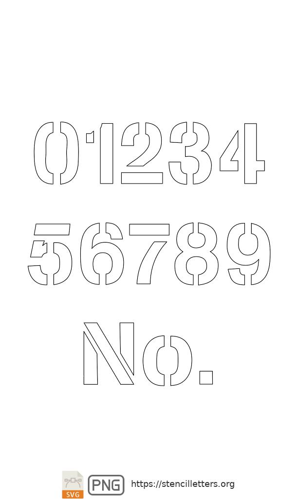 Army Light Sans number stencils