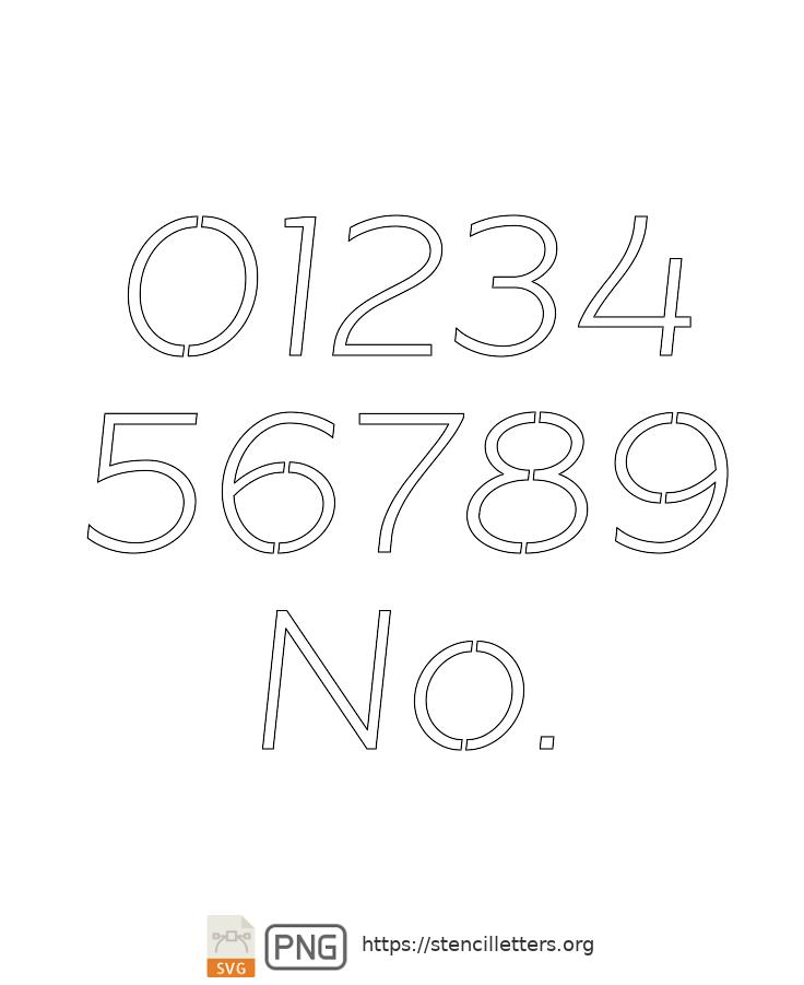 Beautiful Sans Italic number stencils
