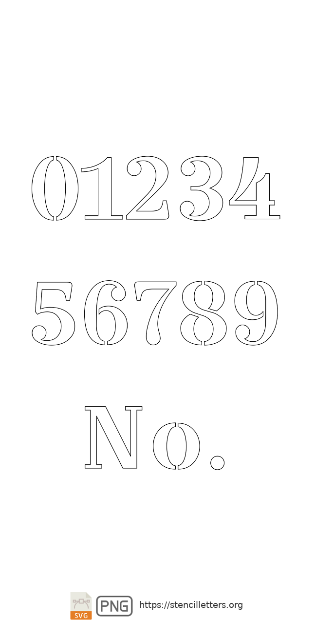 Bridal Wedding Script number stencils