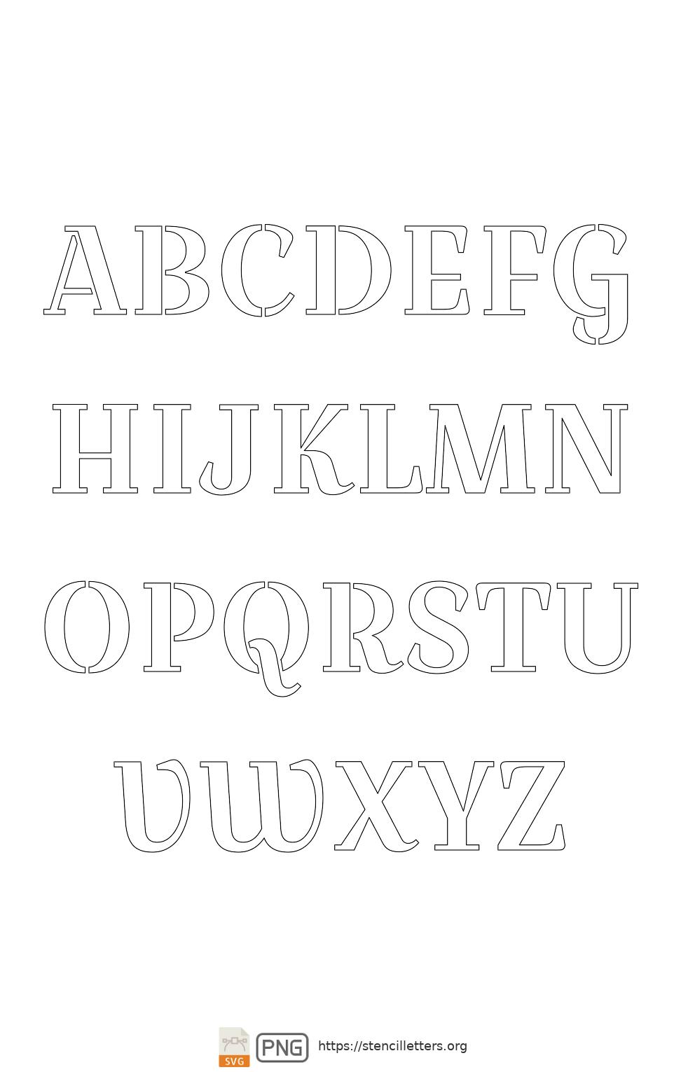 Bridal Wedding Script uppercase letter stencils