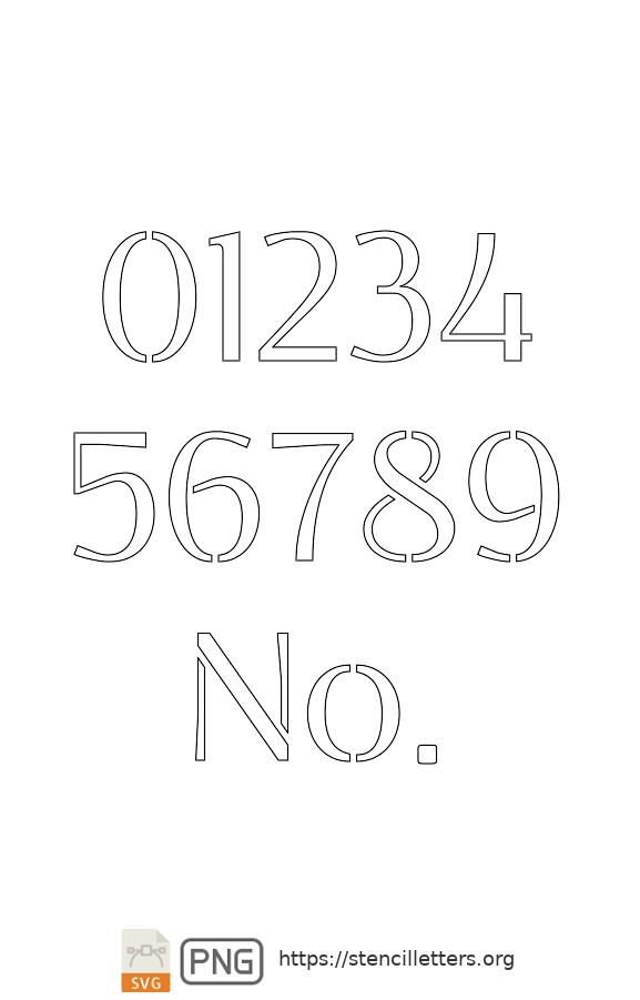 Clean Geo Light number stencils