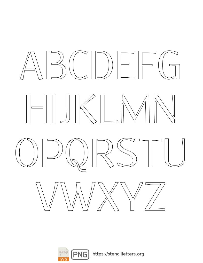 Clean Geo Light uppercase letter stencils