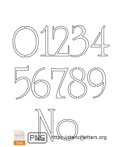 Grand & Stylish number stencils