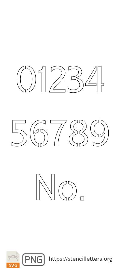 Headline Poster Serif number stencils
