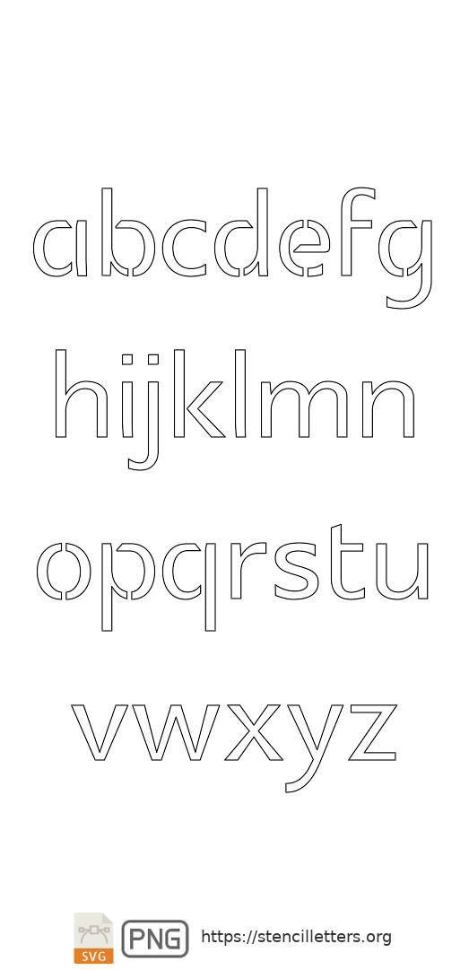 Headline Poster Serif lowercase letter stencils