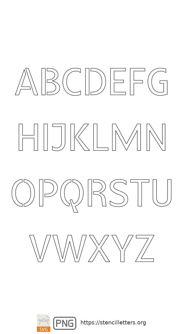 Headline Poster Serif uppercase letter stencils