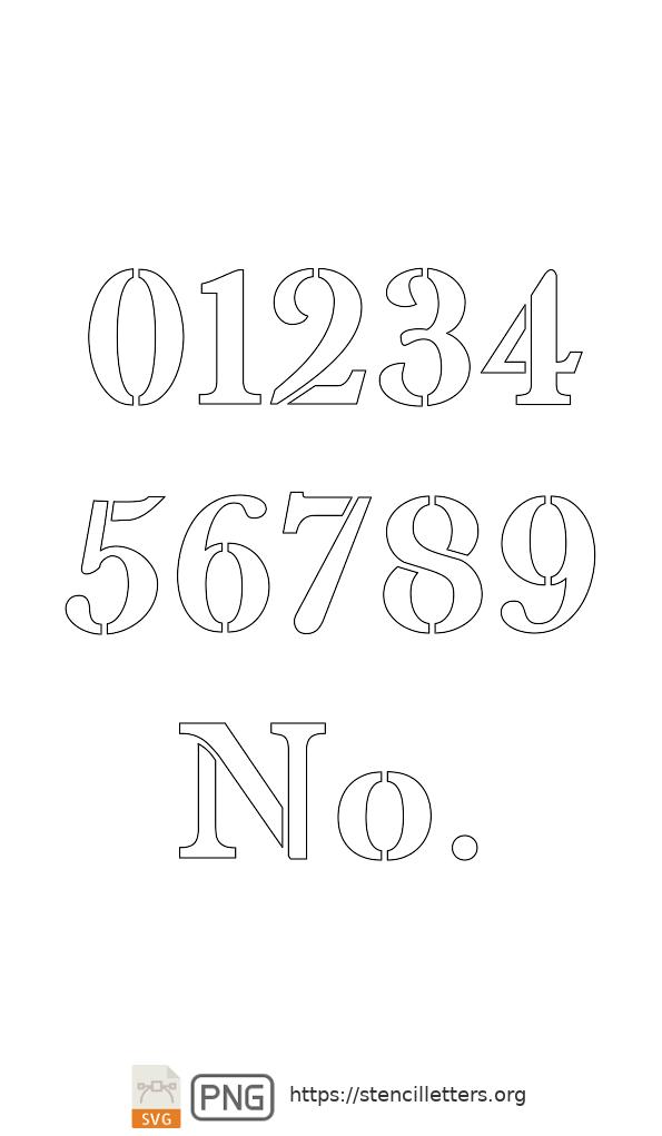 Readable Type Headline number stencils