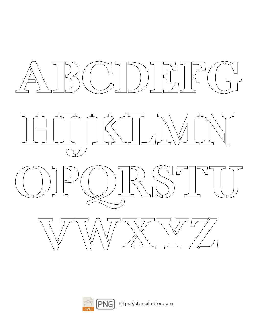 Readable Type Headline uppercase letter stencils