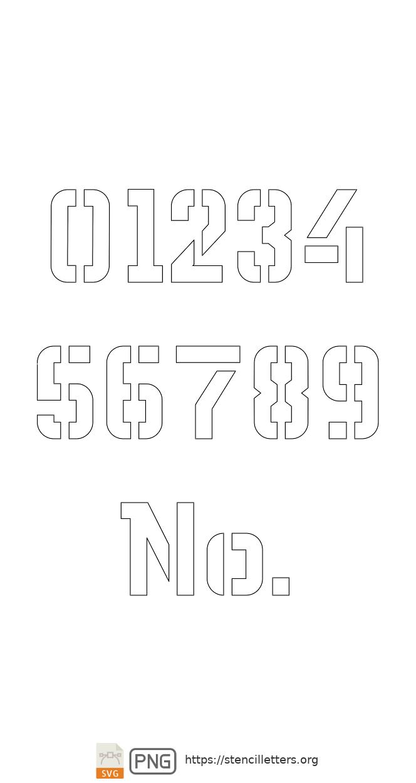 Sci-Fi Futuristic number stencils