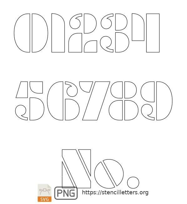 Smooth Round number stencils