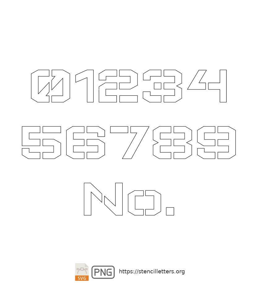 Square Block number stencils