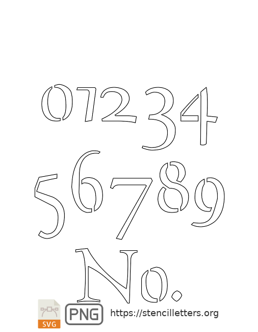 The Gaelic Celtic number stencils