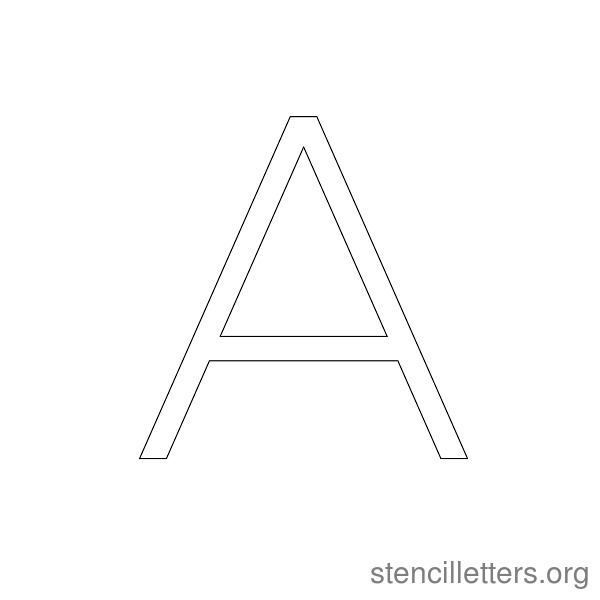 2021 Modern Thin Stencil Letters