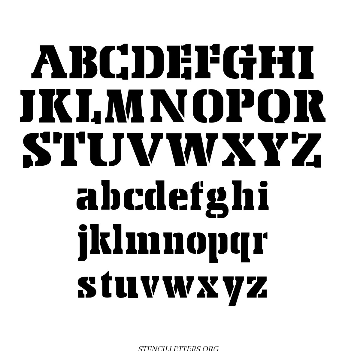 Air Force Army free printable letter stencils