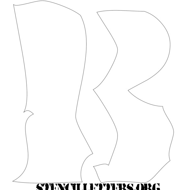 This is a picture of Free Printable Stencils to Cut Out inside alphabet letter templates