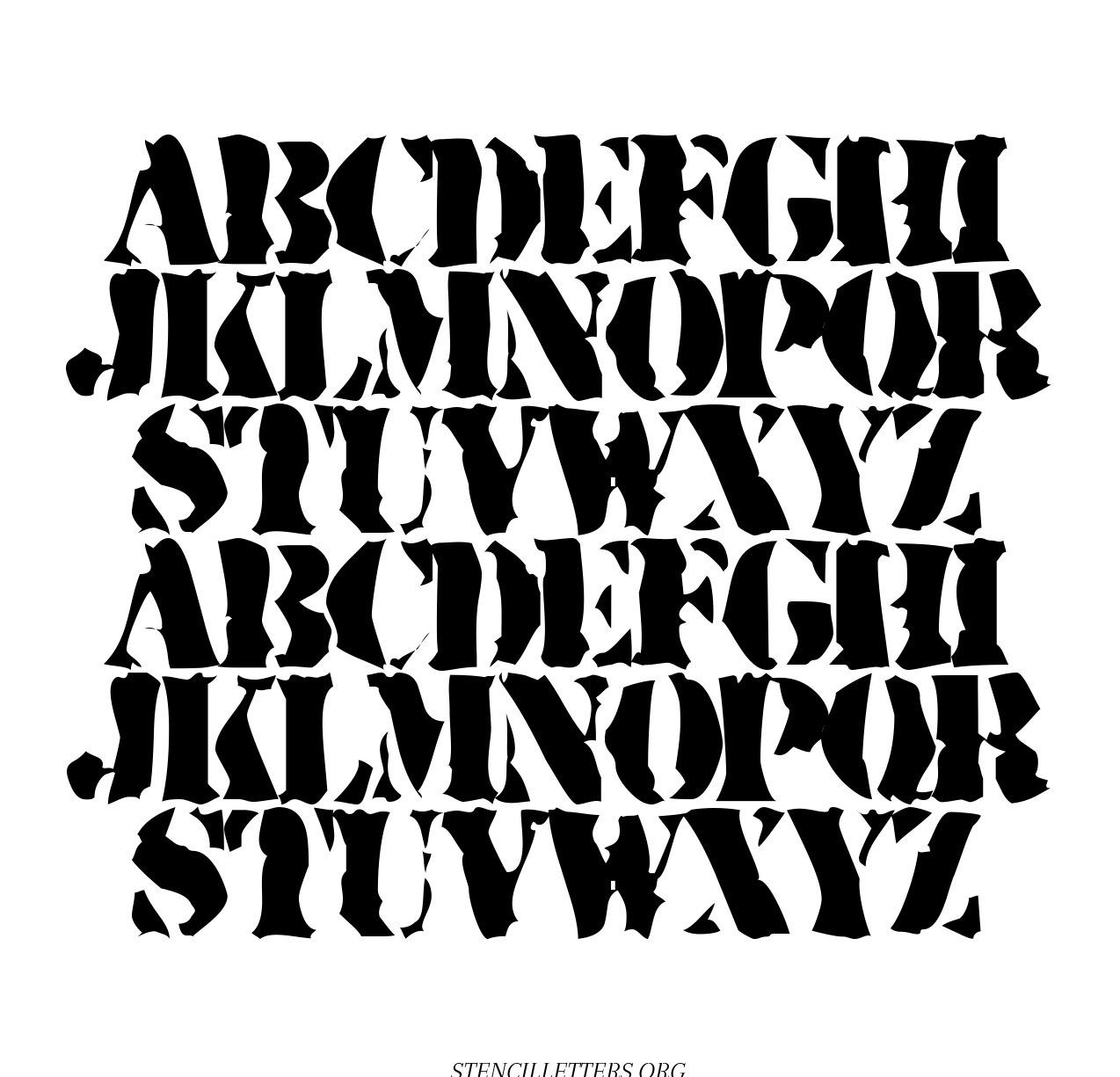 Army Stencil Majuscule free printable letter stencils