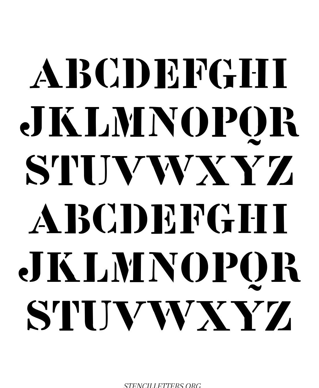 British Pop Art free printable letter stencils