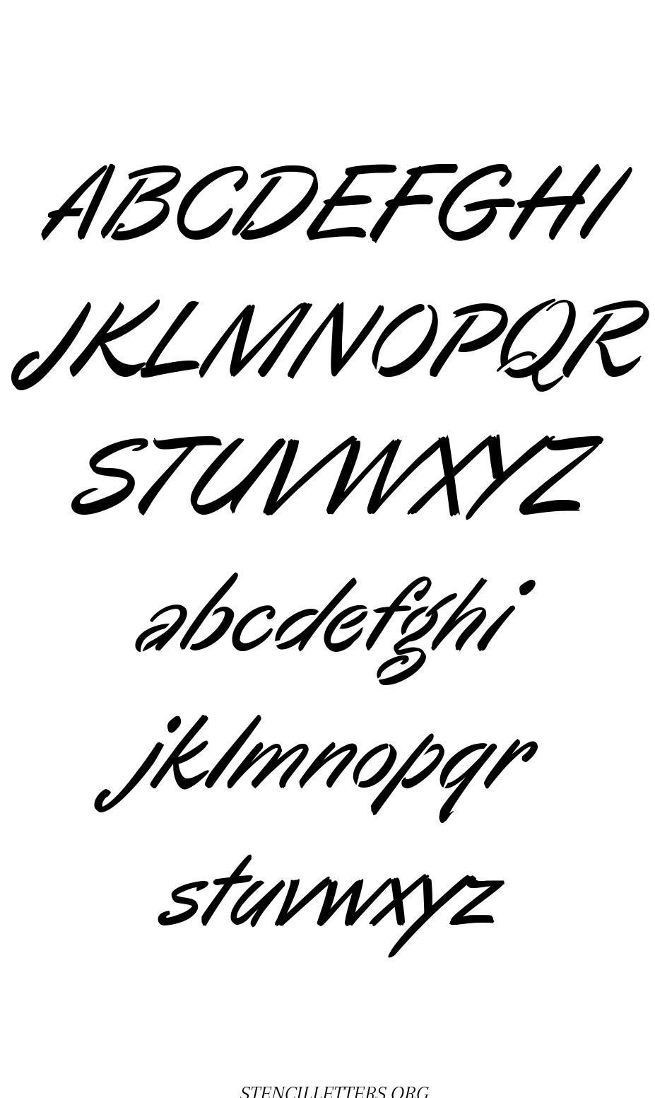 Cartoon Calligraphy free printable letter stencils