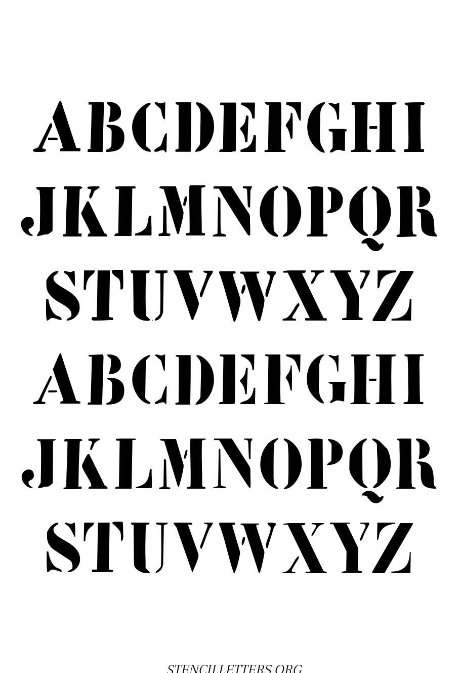 Classic Architect free printable letter stencils