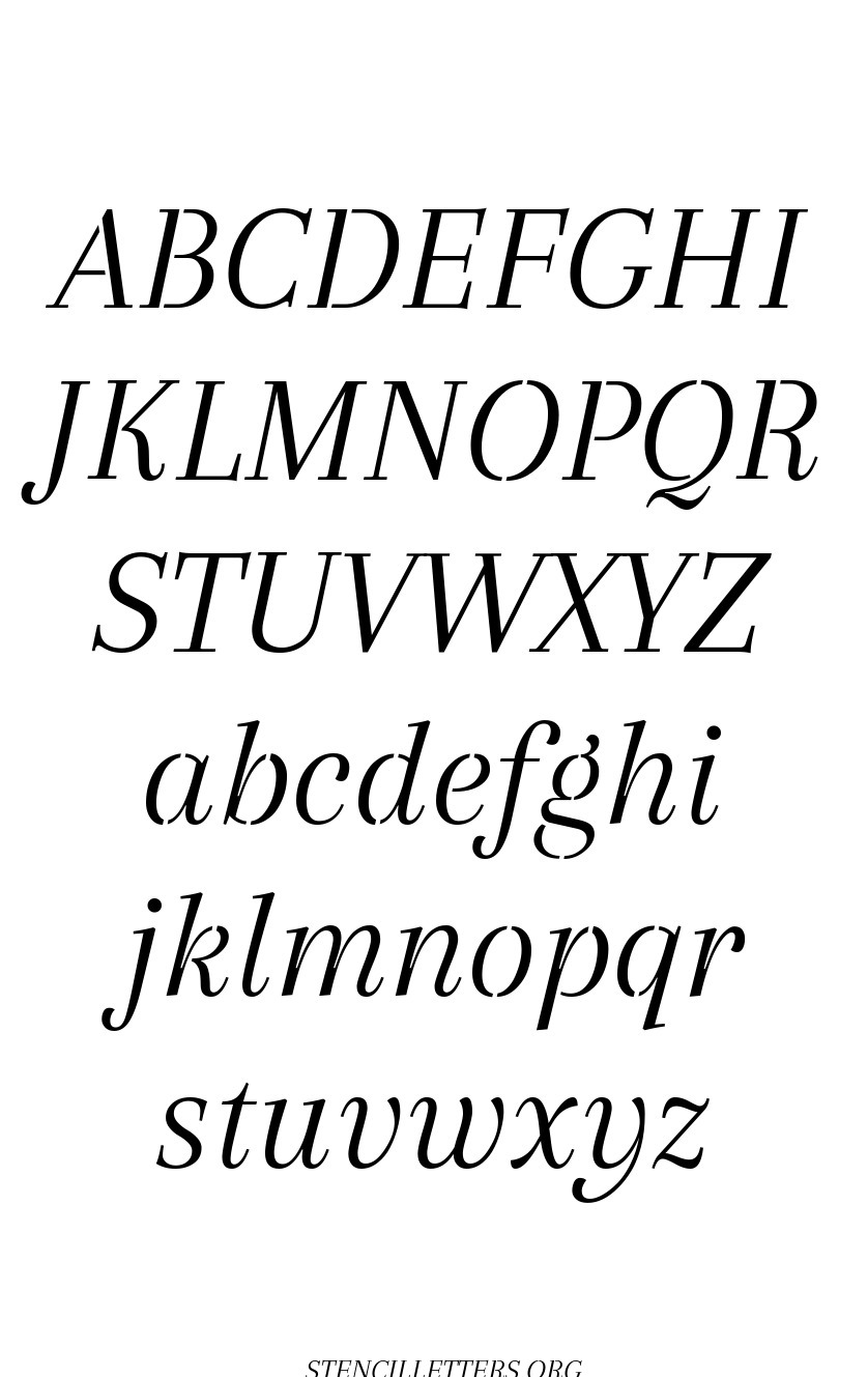 Classic Italic free printable letter stencils